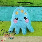 Octopus Stuffie ITH Embroidery Design - 5x7 Hoop or larger