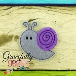 Snail Feltie ITH Embroidery Design 4x4 hoop (and larger)