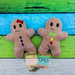 Boy/Girl Gingy Stuffie ITH Embroidery Design - 5x7 Hoop or Larger