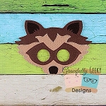 Raccoon Felt Mask Embroidery Design - 5x7 Hoop or Larger