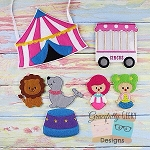 Circus Set Busy Bag Embroidery Design - 5x7 Hoop or Larger