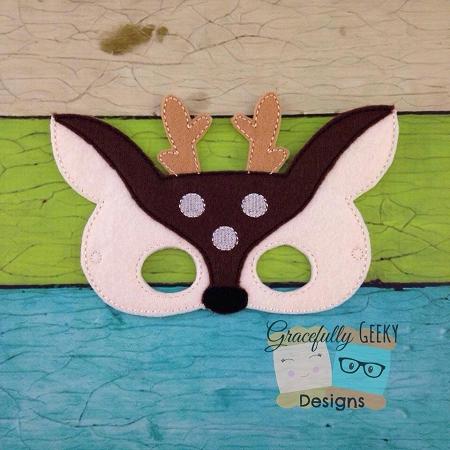 Deer Felt Mask Embroidery Design 5x7 Hoop Or Larger