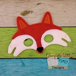 Fox Felt Mask Embroidery Design - 5x7 Hoop or Larger