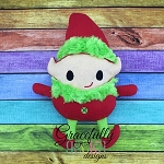 Elf Stuffie ITH Embroidery Design - 5x7 Hoop or Larger