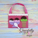 Ice cream Set Busy Bag Embroidery Design - 5x7 Hoop or Larger