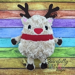 Reindeer Stuffie ITH Embroidery Design - 5x7 Hoop or Larger