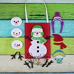 Snowman Set Busy Bag Embroidery Design - 5x7 Hoop or Larger