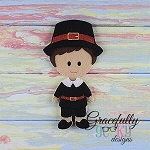 Edmund Dress up Doll - Embroidery Design 5x7 hoop or larger