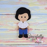 Eric Dress up Doll - Embroidery Design 5x7 hoop or larger