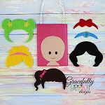 Hair Style Set Busy Bag Embroidery Design - 5x7 Hoop or Larger