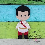 Nolan Dress up Doll - Embroidery Design 5x7 hoop or larger