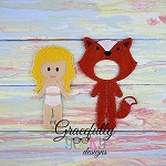 Fox Dress up Outfit (OUTFIT ONLY)- to fit GGD Dress up dolls - Embroidery Design 5x7 hoop or larger