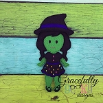 Melanie Dress up Doll - Embroidery Design 5x7 hoop or larger