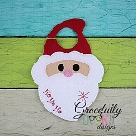 Santa Door Hanger Embroidery Design - 5x7 Hoop or Larger
