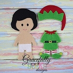 Elf Boy Outfit  Dress up Outfit (OUTFIT ONLY)- to fit GGD BOY Dress up dolls - Embroidery Design 5x7 hoop or larger (COPY)