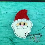 Santa Feltie ITH Embroidery Design 4x4 hoop (and larger)