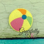 BeachBall Feltie ITH Embroidery Design 4x4 hoop (and larger)