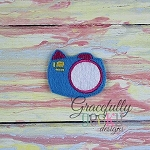 Camera Feltie ITH Embroidery Design 4x4 hoop (and larger)
