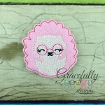 Hedgehog Feltie ITH Embroidery Design 4x4 hoop (and larger)