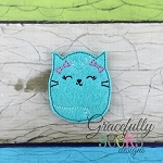 Kitty Feltie ITH Embroidery Design 4x4 hoop (and larger)
