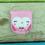 Cute Owl Feltie ITH Embroidery Design 4x4 hoop (and larger)
