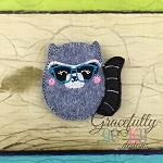 Raccoon Feltie ITH Embroidery Design 4x4 hoop (and larger)