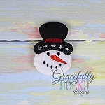 Snowman Feltie ITH Embroidery Design 4x4 hoop (and larger)