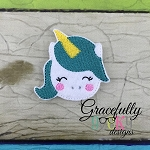 Unicorn Feltie ITH Embroidery Design 4x4 hoop (and larger)