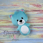 Bear Stuffie ITH Embroidery Design - 4x4 Hoop or larger