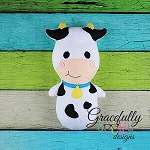 Cow Stuffie ITH Embroidery Design - 4x4 Hoop or larger