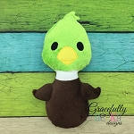 Duck Stuffie ITH Embroidery Design - 4x4 Hoop or larger