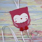 Owl Clip Keeper Embroidery Design - 4x4 Hoop or Larger