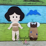 Rag Dress Girl Outfit  Dress up Outfit (OUTFIT ONLY)- to fit GGD GIRL Dress up dolls - Embroidery Design 5x7 hoop or larger