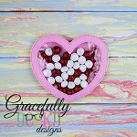 Heart candy pouch  ITH Embroidery Design 4x4 hoop (and larger)