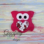 Owl candy pouch  ITH Embroidery Design 4x4 hoop (and larger)