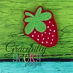 Strawberry Palette Feltie ITH Embroidery Design 4x4 hoop (and larger)