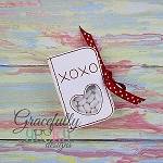 XOXO  Tic Tac Holder  ITH Embroidery Design5x7 hoop (and larger)