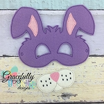 Bunny Mask  Embroidery Design - 5x7 Hoop or Larger