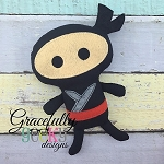 Ninja Stuffie ITH Embroidery Design - 5x7 Hoop or larger
