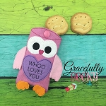 Owl  pouch  ITH Embroidery Design 5x7 hoop (and larger)