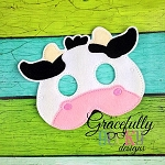 Cow Mask  Embroidery Design - 5x7 Hoop or Larger