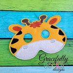 Giraffe Mask  Embroidery Design - 5x7 Hoop or Larger
