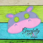 Hippo Mask  Embroidery Design - 5x7 Hoop or Larger