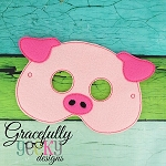 Pig Mask  Embroidery Design - 5x7 Hoop or Larger