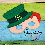 Leprechaun Mask  Embroidery Design - 5x7 Hoop or Larger