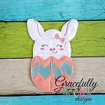 Bunny In Egg Puzzle with Pouch Embroidery Design - 5x7 Hoop or Larger