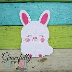 Bunny Puzzle with Pouch Embroidery Design - 5x7 Hoop or Larger