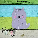 Kitty Cat Puzzle with Pouch Embroidery Design - 5x7 Hoop or Larger