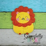 Lion Puzzle with Pouch Embroidery Design - 5x7 Hoop or Larger