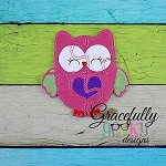 Love Owl Puzzle with Pouch Embroidery Design - 5x7 Hoop or Larger